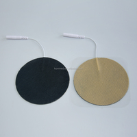 mini round shape tens adhesive massage electrode pad for knee muscle stimulator