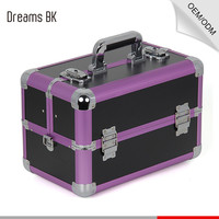 Small Aluminum make up cosmetic vanity container case