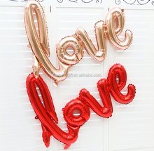 Wholesale red and gold love letter alphabet letter foil balloons with wedding decorations