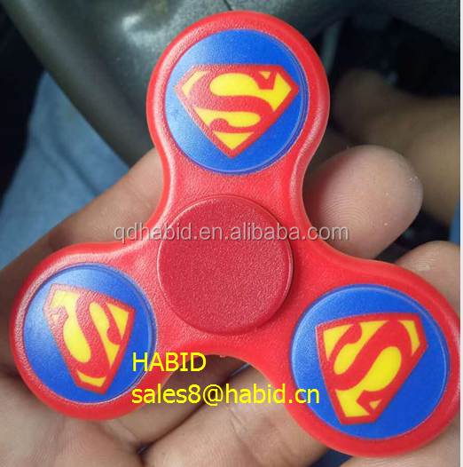ABS Rainbow bluetooth LED light alloy hand spinners toys factory price metal bearing fidget spinners