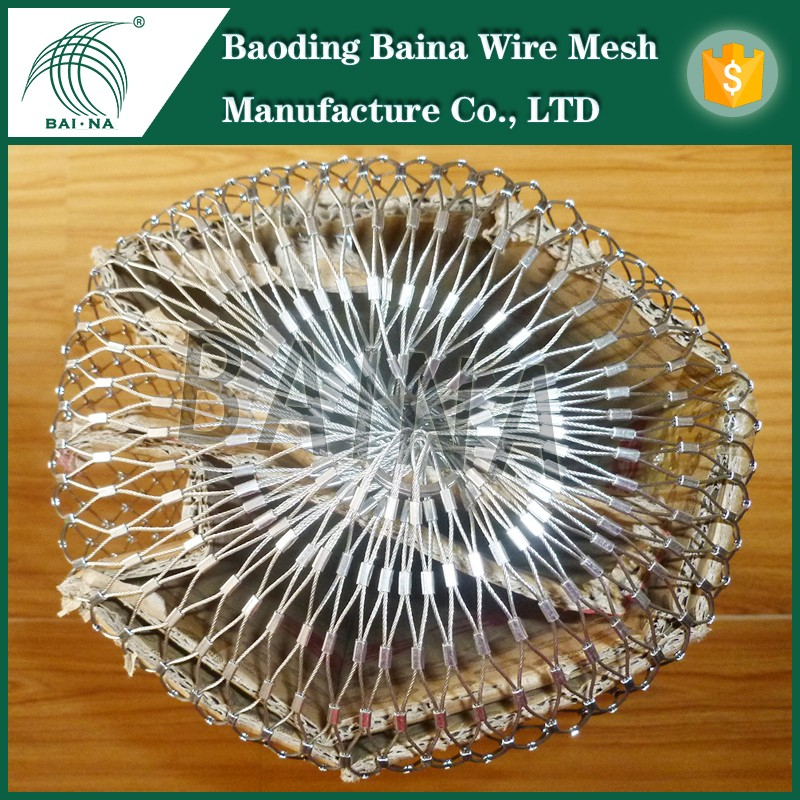 85L stainless steel metal rope mesh bag