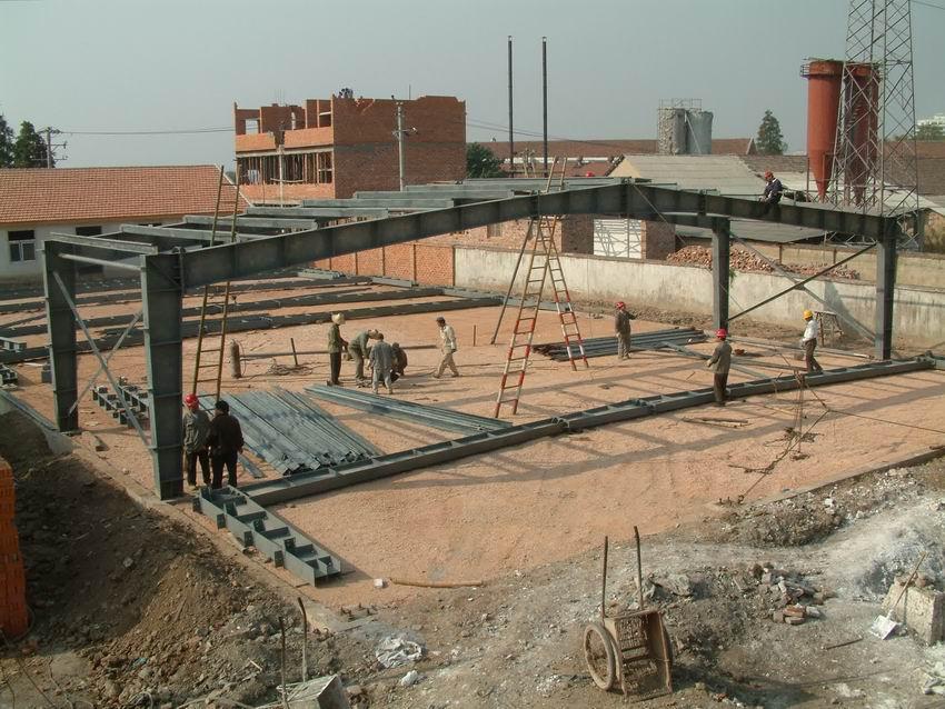 Estructura de marco de acero de calidad barato nave de - Material construccion barato ...