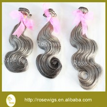 Free Shipping By FedEx Indian Human Virgin Mix Color Hair Weave Grey Color Hair Weave 3Pcs Lot Human Hair Weave Body Wave