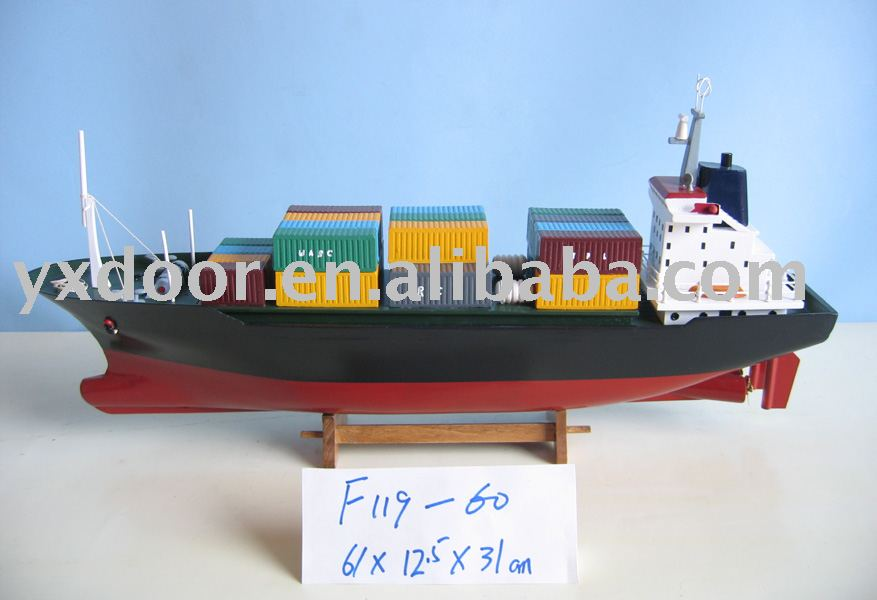 Container Ship model(F119-60) miniature, model container ship