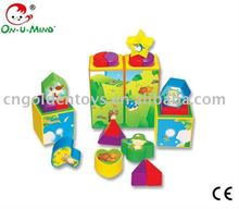 Creative Stacking blocks Plastic Enlighten Brick Toys for children-24pcs