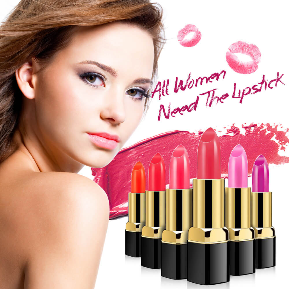 Top quality white tube manufacturers charming vivid color lipstick