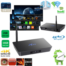 Newest android 6.0 X92 Android Tv Box Ram 2GB ROM 16GB Dual Band Wifi Amlogic S912 h.264 h.265 ott tv box