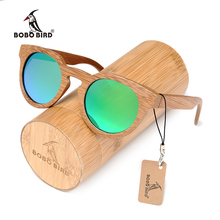 BOBO BIRD custom bamboo wooden sunglasses with polarized men or women Cat's eye glasses dropshipping