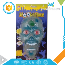transparent blue doorplate electric toy halloween foam skulls with low price