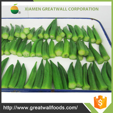 Iqf frozen whole new season okra