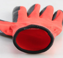 JIE'ERHUI 13 gauge black nylon and glassfiber and hppe liner coated grey PU on palm anti cut and cut resistant gloves