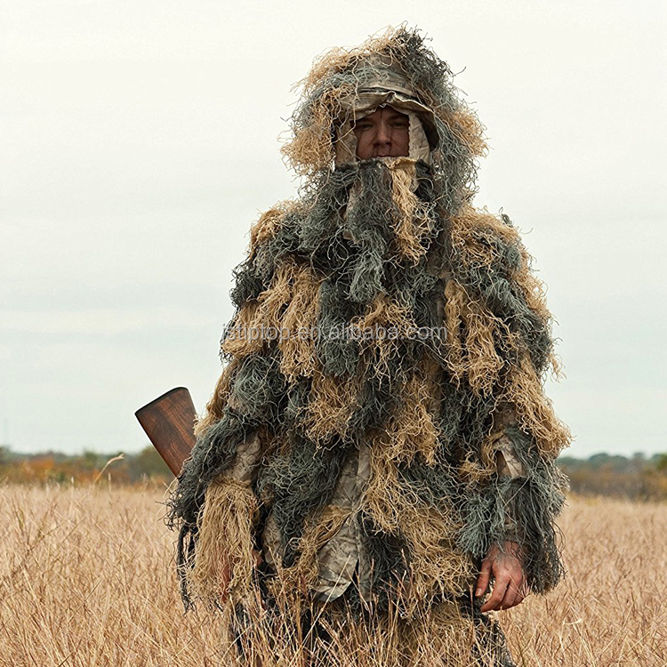 forest outdoor ghillie military camouflage hunting suit hunting gear