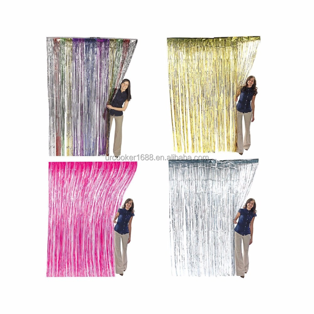 Best Foil Fringe Party Decoration Door Curtain Foil Fringe Shiny Curtains Foil Curtain for Party