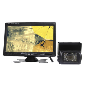 IPS screen 7 inch tft car lcd monitor with AHD 720p camera