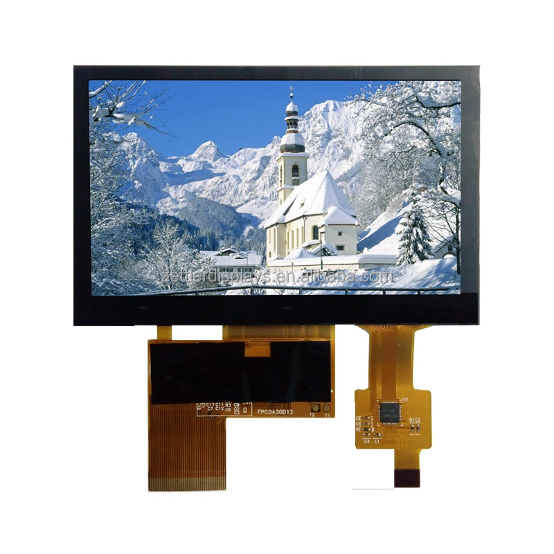 4.3 inch lcd with capacitive touch screen 480x272, high brightness