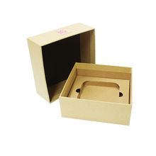 China factory price latest brown kraft paper hat cover box with inner tray hard disk packaging