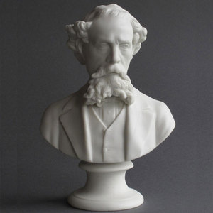High Quality Antique Famous Marble Dickens Bust