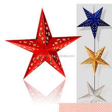 Different size hanging led paper star lantern wholesale