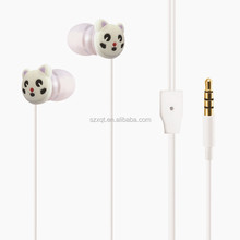 Factory Price Custom 3D Cartoon PVC Earphone With Promotion Package,In-ear Style Earphone,Funny Earbuds For Kid