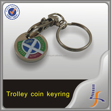 custom token coin key chain wholesale trolley coin keyring