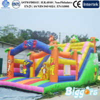 Inflatable Cartoon Animal World Children Slide
