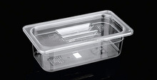 Recycled Transparent GN Container/Rectangular Plastic food container with lids