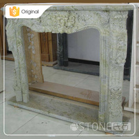 Wholesale From China Custom Natural Simple Design Stone Marble Fireplace Mantel