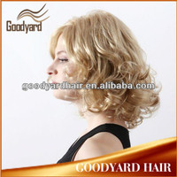 Lady's Fashion china blonde 100% futura High-resist Synthetic wig for white woman