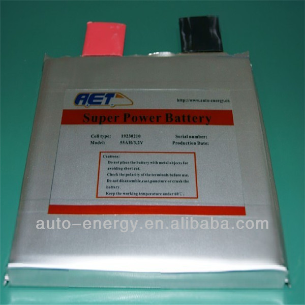 LFP 3.2V55AH Soft Package battery for Energy storage,PV,UPS,electric motor