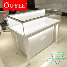 Fashion Retail Modern Design Wood Glass Mobile Phone Shop Display Counter For Sale