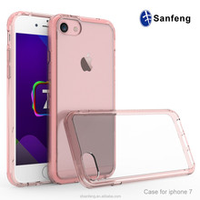 Drop Resistance Transparent Soft TPU Clear Protective Phone Case For Iphone 7 / 7 Plus