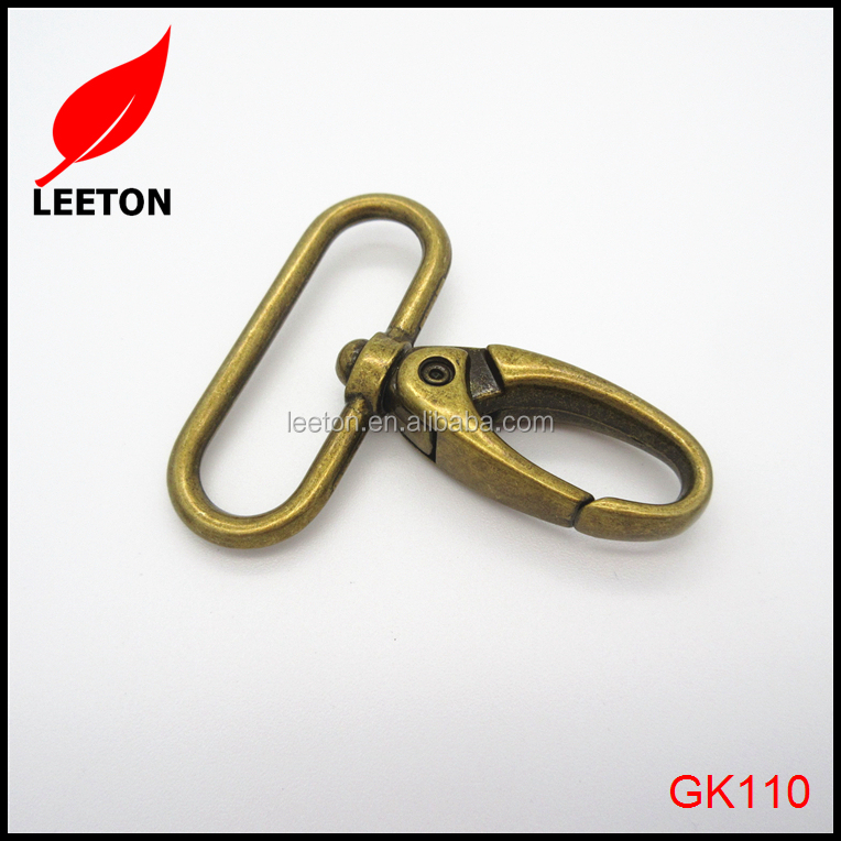 Zinc alloy 38mm anti-brass swivel snap hook for bag
