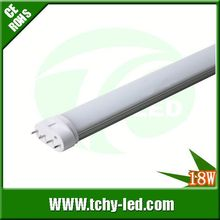 Professional high lumens freezer led light 2g11 led ping tube 9w 12w 18w 22w for swimming pool