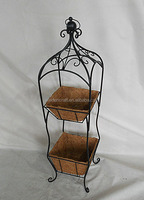 2 Tier Home & Garden Decoration Plant Stand Basket With Coco Liner