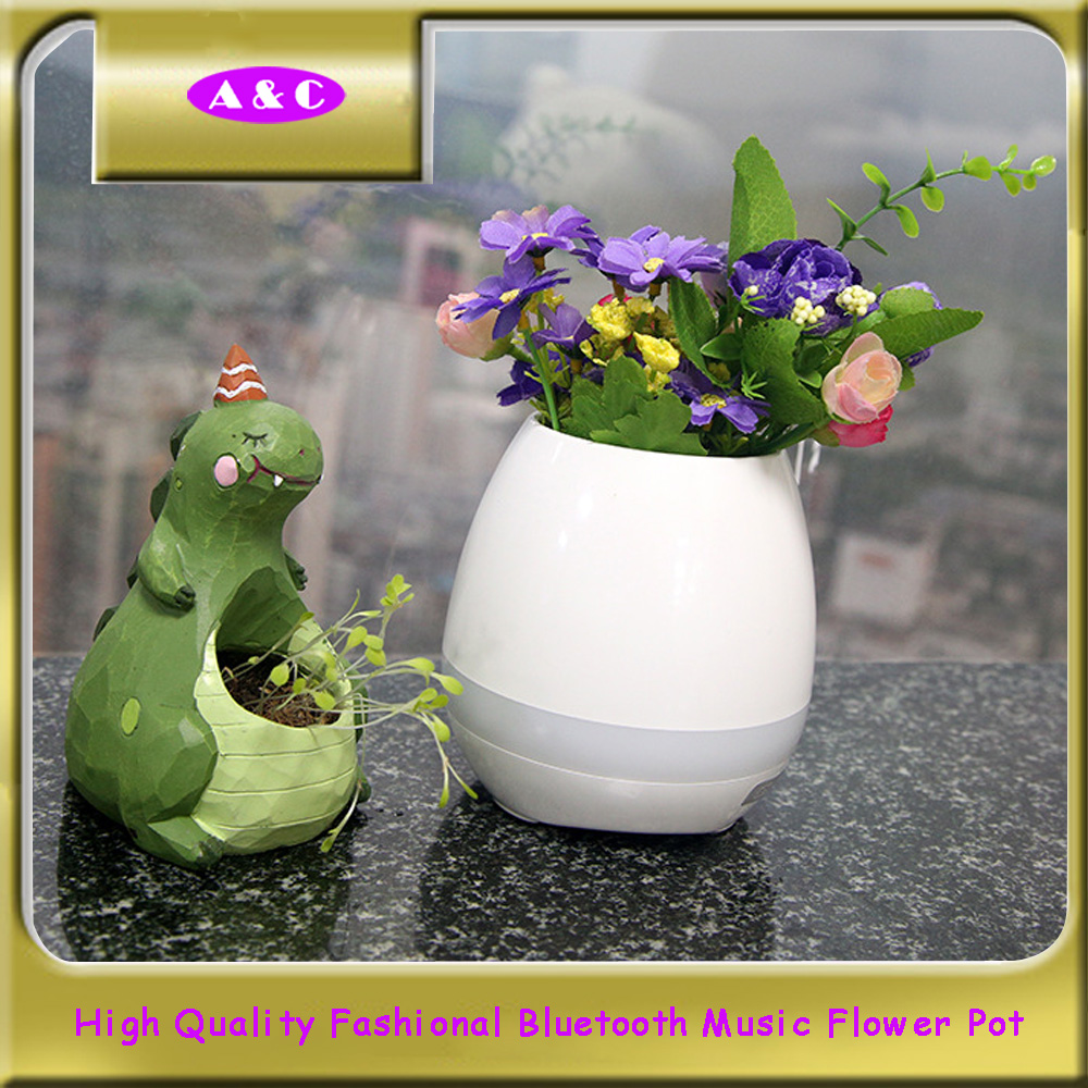 China Best bluetooth speaker touch piano music playing rechargeable wireless flower pots