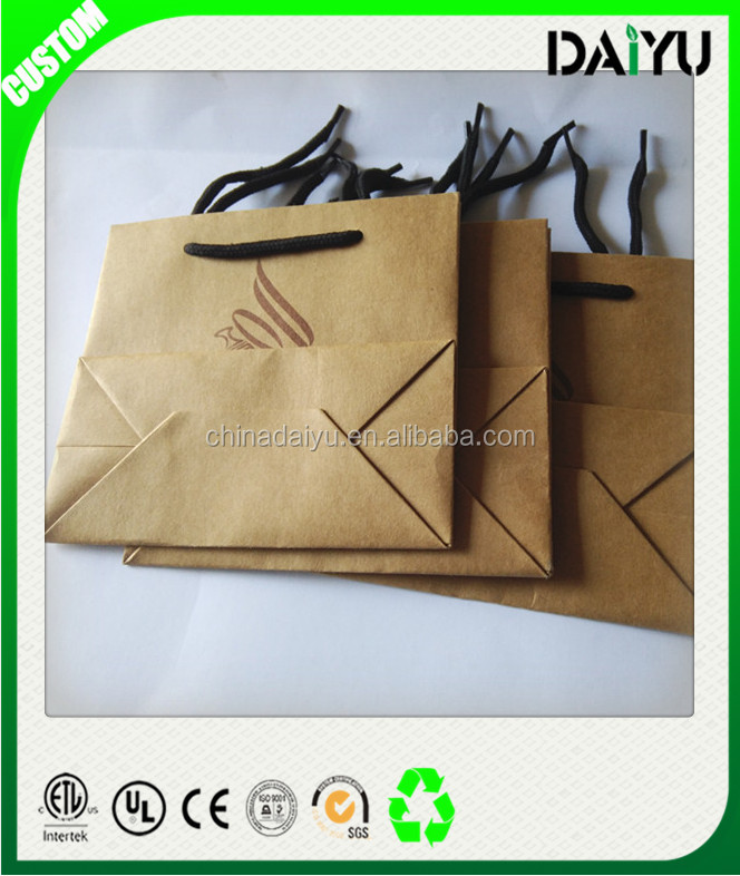 Professional packaging industry custom paper bags with logo print