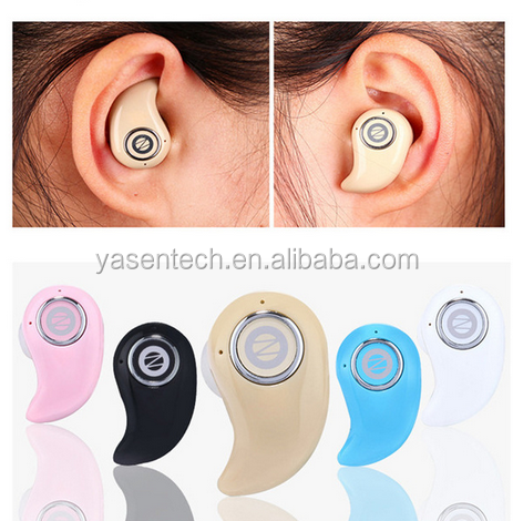 Super Mini Stereo Invisible Bluetooth Earphone S550 In-Ear Wireless V4.0 Stealth Handfree Headset 5 Color For All Smart Phone