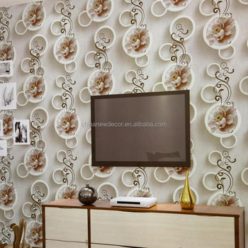 pvc vinyl islamic wallpaper in china factory with good design