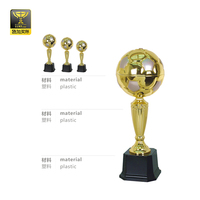 Plastic And Metal Ball Football Trophy