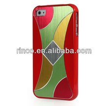 Fashion Colorful Glass Skin Back Case Cover For Apple iPhone 4 4G 4S