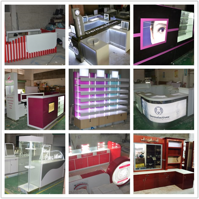 Hot sale Customize mall eyebrow threading kiosk design