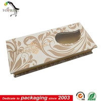 empty eyelash packaging With window/ cosmetic false eyelash packaging box