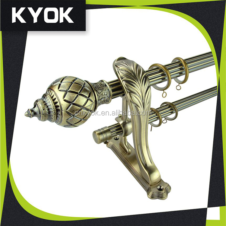 Decorative curtain rods/aluminium Curtain Track Series in PVC Box