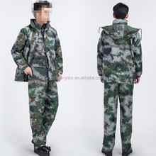 military raincoat190t nylon fabric rainsuit motorcycle racing rainsuit