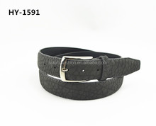 Hot Sale Fashion embossed pu Belt for Men Good quality with pin alloy buckle