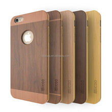 For iphone 6 protective bamboo wood phone case, 100% natural bamboo case for iphone 6 6S