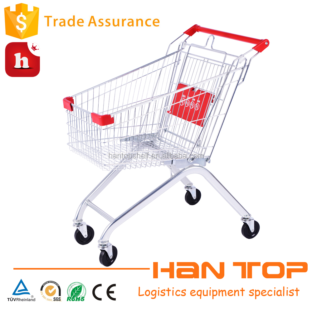 Hypermarket shopping trolley with baby seat and wheels HAN-E80 1326