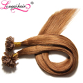 2014 new products hair wholesale two colored braiding hair xuchang longqi hair u tip cheap factory price