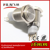 waterproof hot sale high illumination metal latching push pushbutton switch for boat 3A 250vac