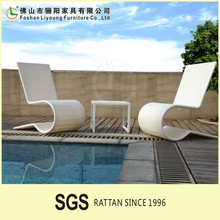 Unique design waterproof leisure design outdoor rattan lightsome tree lounge , sunproof white outdoor wholesale lounge furniture